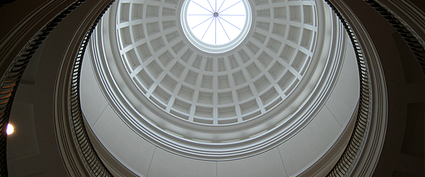 Iowa Judicial Branch building rotunda looking up