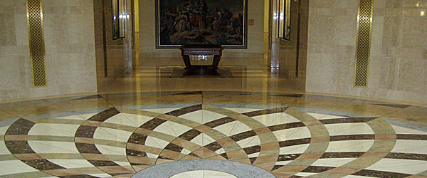 Iowa Judicial Branch building rotunda first floor